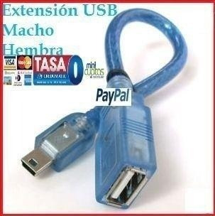 Mini Adaptador Usb 2.0 M-h Extensión Cable Macho A Hembra Pc