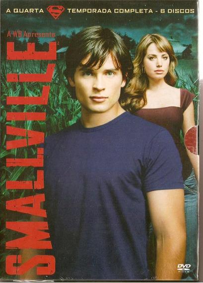 Box Smallville - A 4° Temporada Completa ( 6 Discos ) - Novo