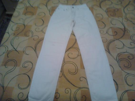 Calça Jeans Levi´strauss Branca Tamanho 36 Bom Estado