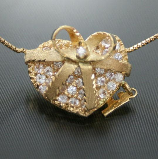 Colar Com Coração De Diamantes Em Ouro 18 Quilate