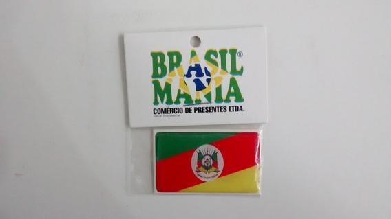 Adesivo Resinado Bandeira Do Estado Do Rio Grande Do Sul.