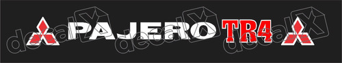 Adesivo Para Parabrisa Pajero Tr4 Ab004