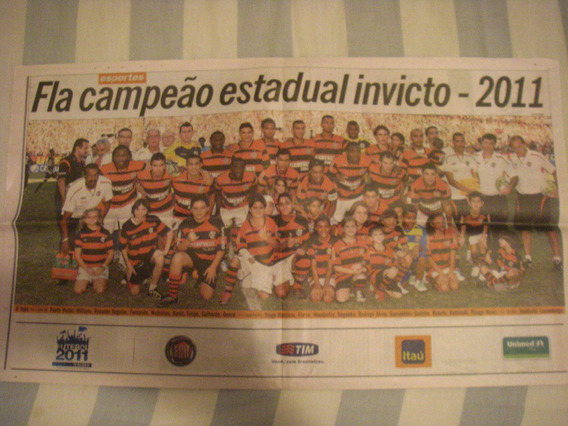 Jornal Flamengo - O Globo - Campeao Carioca 2011 Invicto