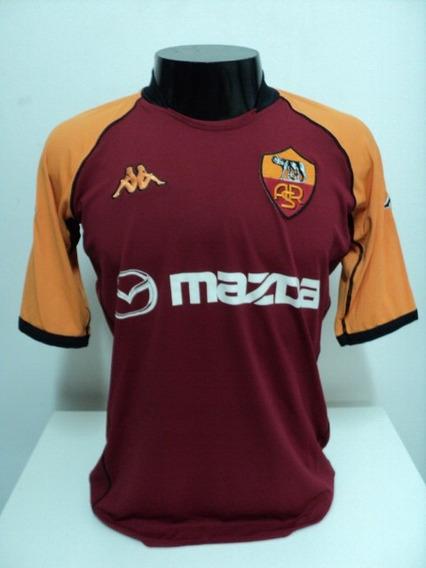 Camisa Roma Champions League 02-03 Cafu 2 Importada