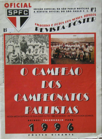São Paulo Futebol Clube Revista Poster Calendário 1996