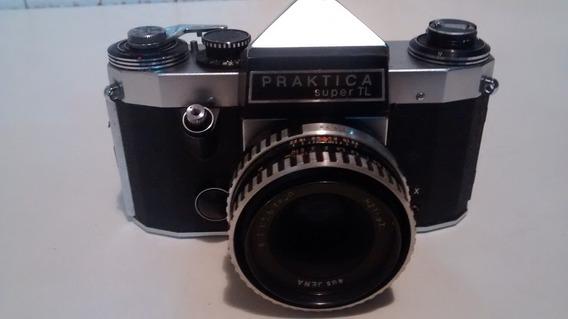 Camera Fotografica Antiga Praktica Super Tl Rara Unica No Ml