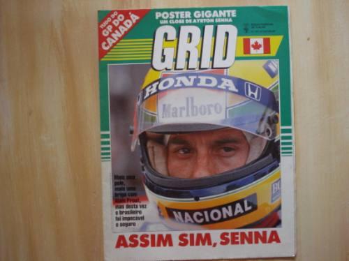 Poster Gigante Ayrton Senna - Grid - Placar Edição Especial