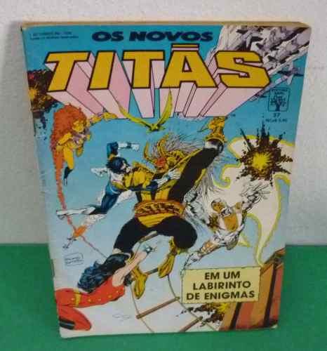 Os Novos Titãs Nº 37 Abril De 1989 Editora Abril .