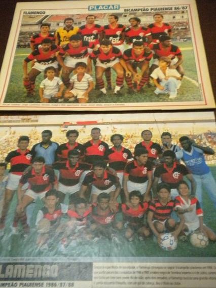 Lote Com 2 Posters Flamengo Campeão Piauí Placar