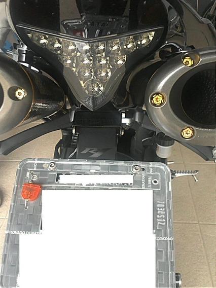 Suporte De Placa Yamaha R1 2009 2015 Com Iluminação 03 Leds