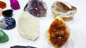Coleção 20 Pedras/ Minerais Naturais/ 5 Brutas E 15 Roladas