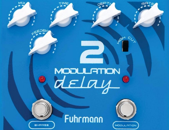 Pedal Modulation Delay 2 Pedaleira Guitarra Fuhrmann P. Entr