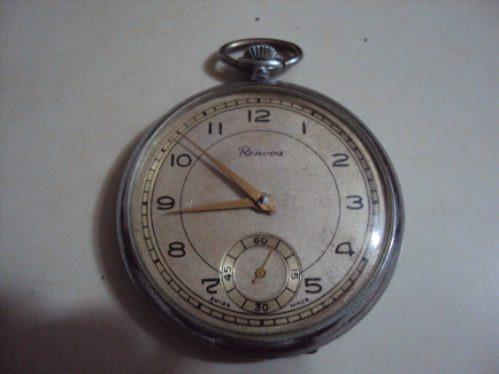 Relógio De Bolso Antigo Renova Suíço - Raro - Coleção