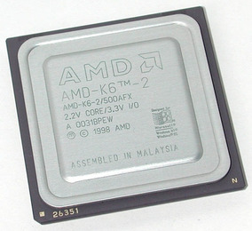Processador Amd K6-2 500mhz Socket 7