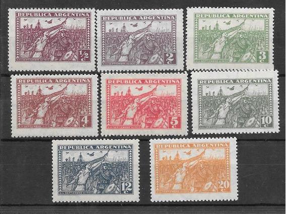 8 Estampillas Revolucion 30 Año 1930 Tamaño Grande Mint