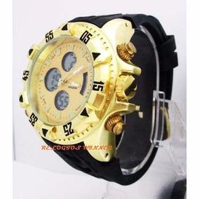 Relógio Goldman Zeus Dual Time Original Na Caixa Com Manual