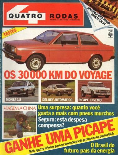Quatro Rodas Nº269 Voyage Monza Hatch Del Rey Envemo Gurgel