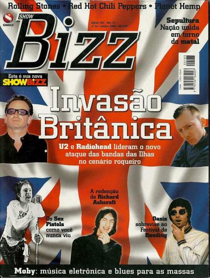 Revista Bizz 183-,titãs,skank,paralamas Do Sucesso,u2,elvis