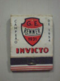 Caixa De Fósforo G.e. Renner 1931 Campeão Gaúcho De 1954