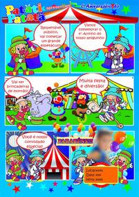 Convite De Aniversário Patati Patatá Em Quadrinhos.