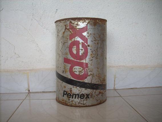 Antiguo Bote De Lamina De Aceite Dex 5 Litros No Subasta