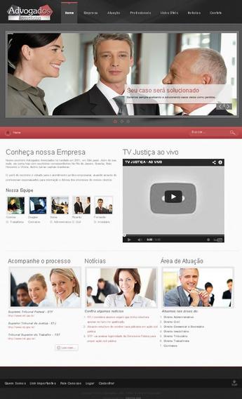 Site Pronto Em Joomla 2.5.6 Para Advogado - Modeloj482