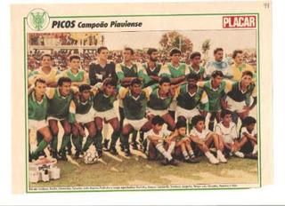Poster Picos Do Piauí Lote C/4 Série Campeões Placar