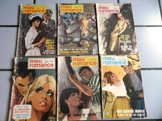 6 Revistas - Meu Romance - 1967, 1968 (frete Grátis)