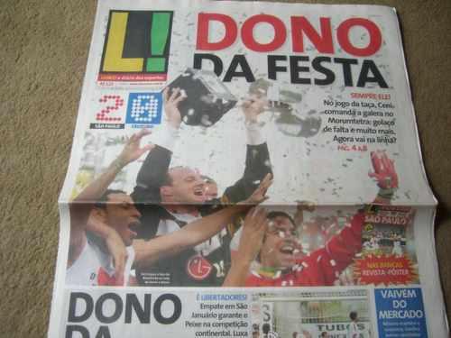 +m+ Jornal Lance São Paulo X Cruzeiro Campeão Brasileiro 06