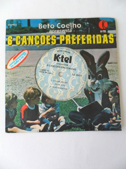 Beto Coelho 6 Cancões Preferidas Disco Infantil Coleção