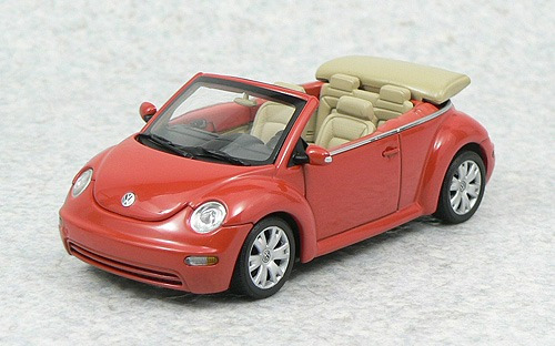 1:43 Autoart 59753 Vw New Beetle Cabrio Fusca Sundown Orange