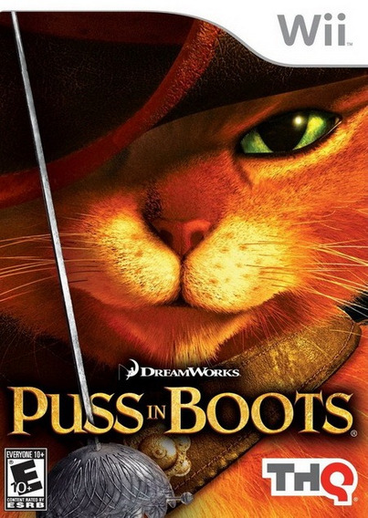 Wii Puss In Boots Gato De Botas Dream Works