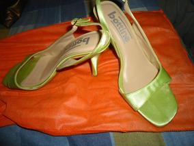 Sandália De Cetim Verde