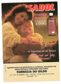 Almanaque Sadol - Ano 1996 - Excelente!!