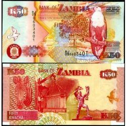 Zâmbia 50 Kwacha 2007 P. 37f Fe Cédula - Tchequito