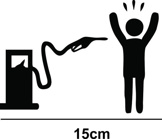 Adesivo Carro Exterior Vidro Lataria Roubo Gasolina Fixa