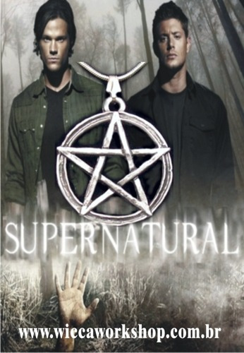 Amuleto Supernatural Sam E Dean Pentagrama Com Corrente