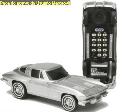 Telefone Miniatura De Carro Chevrolet Corvette Stingray 63