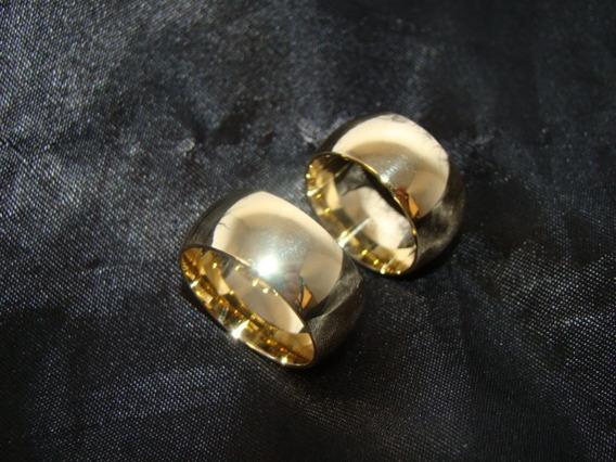 Uma Aliança De Ouro 18k750 10mm E 15grs Ribeiros Joalheiros
