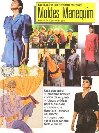 Moldes Manequim 1986 - Capa: Suzy Rêgo / Fatiminha