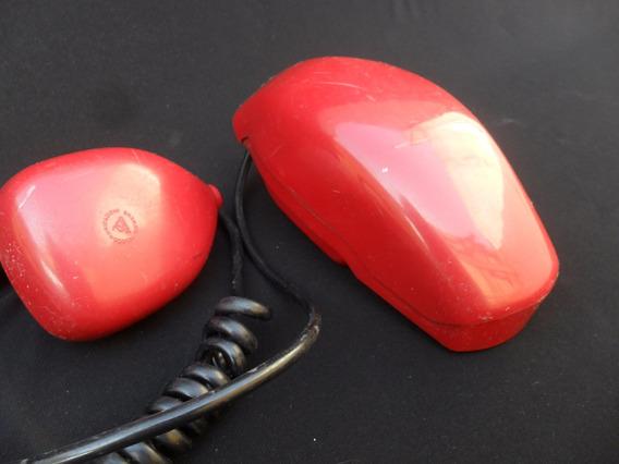 Antiguo Telefono Grillo Rojo Retro Vintage Decoracion Entel