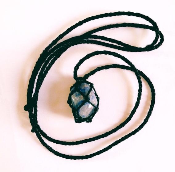 Colar De Pedra Quartzo Azul Signo De Sagitário E Aquário