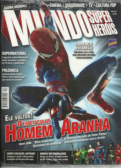 Mundo Dos Super-herois 34 - Europa - Bonellihq Cx99 H19