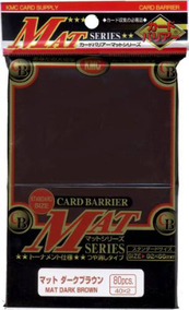 Kmc Mat Sleeves (80 Sleeves) Dark Brown