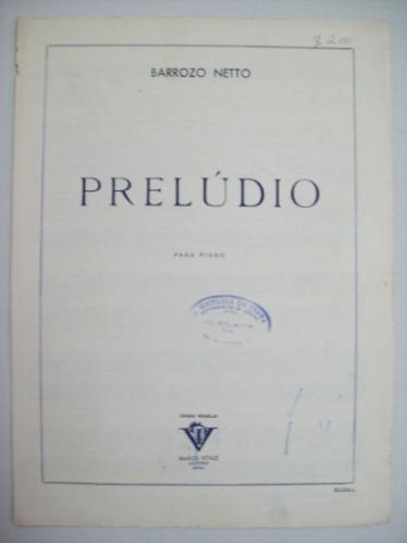Piano - Prelúdio - 1965 - Barrozo Netto - Cód. 164