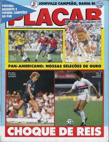 Placar Nº 900. Agosto 1987. Pan87. Telê Santana. Oscar!
