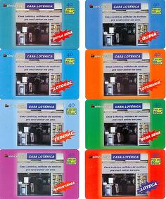 Sincoesp - Casa Lotérica - Telefônica - 8 Cartões - Completa