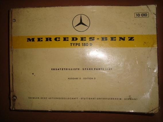 Mercedes 1959 - Catálogo De Peças Original Type 180d Origina