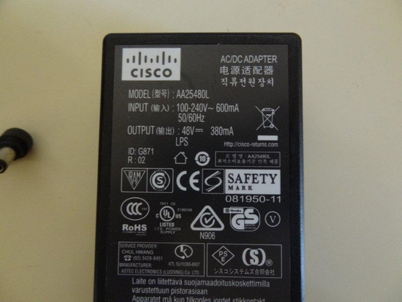 Fonte Cisco 48v P/n:341-0306-01 Telefone Ip/power Injector