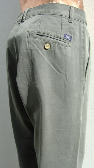 Kevingston Pantalon Hombre T44 Algodon Elast Verde (ana.mar)